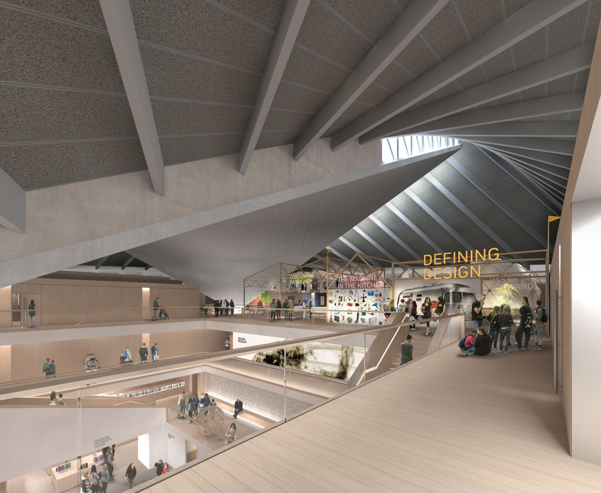 Design-Museum-Kensington-render-Top-Floor-Permanent-Exhibition-credit-Alex-Morris-Visualisation.